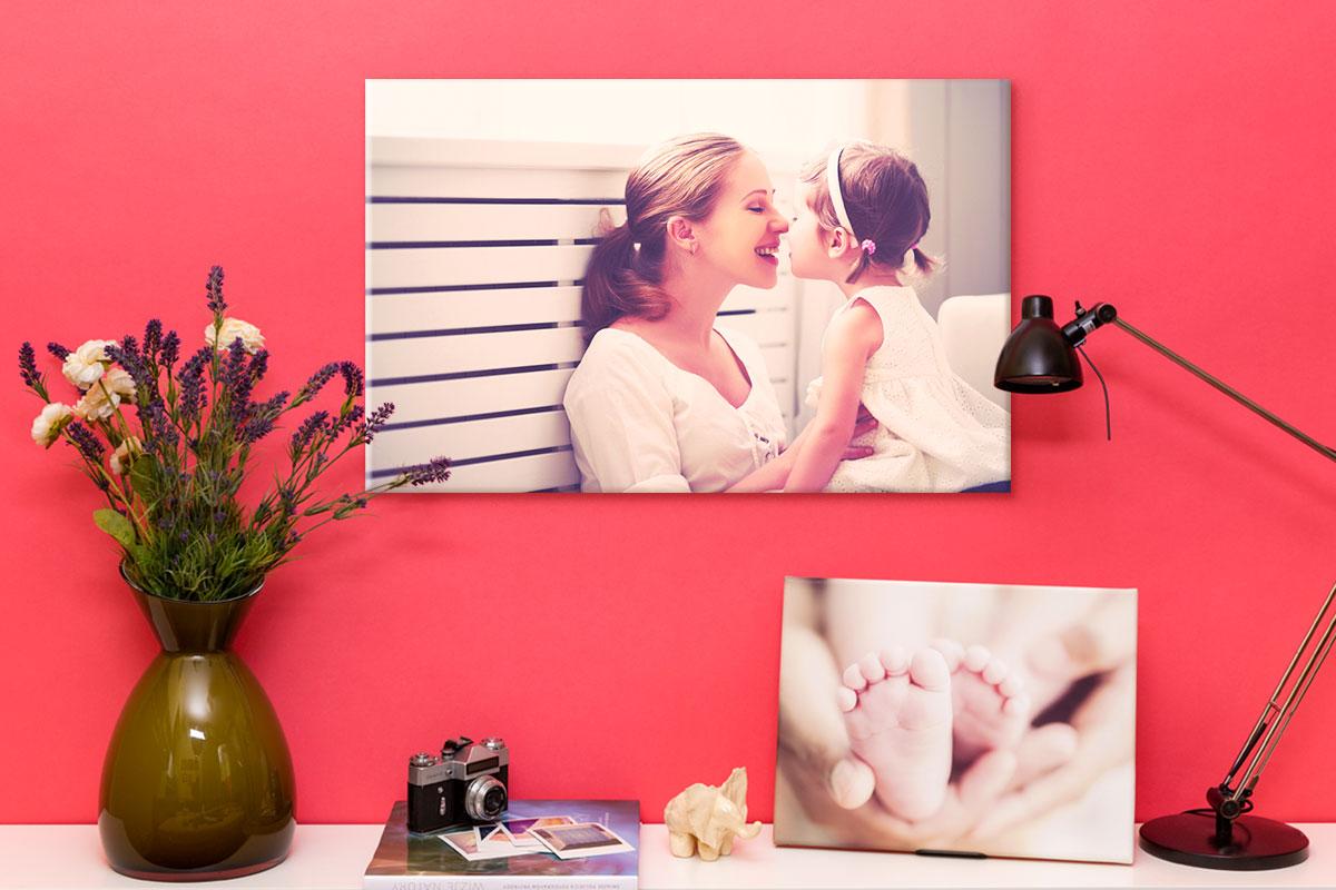 Fotoobraz na płótnie na prezent dla mamy w dniu jej święta Dnia Matki