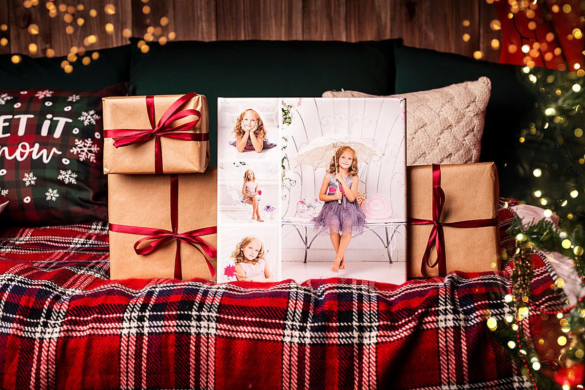 Fotoobraz na płótnie kolaż zdjęć świąteczny