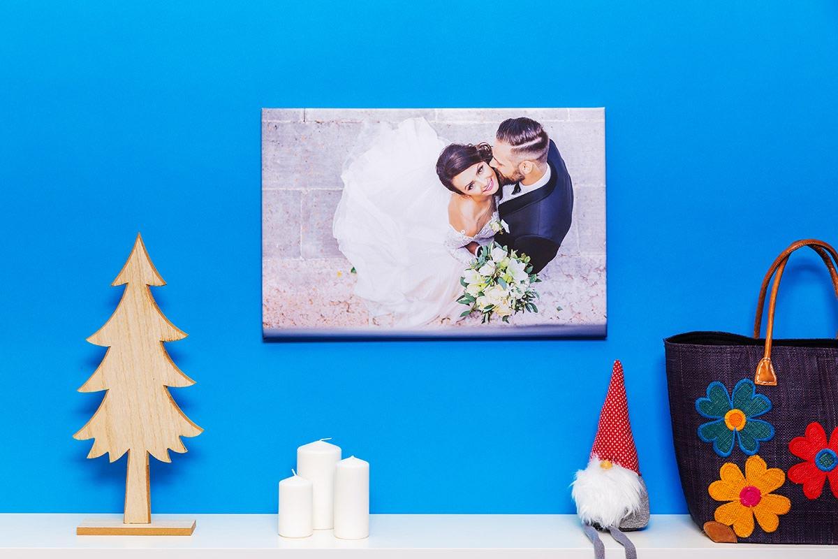 fotoobraz na płótnie zdjęcie ślubne