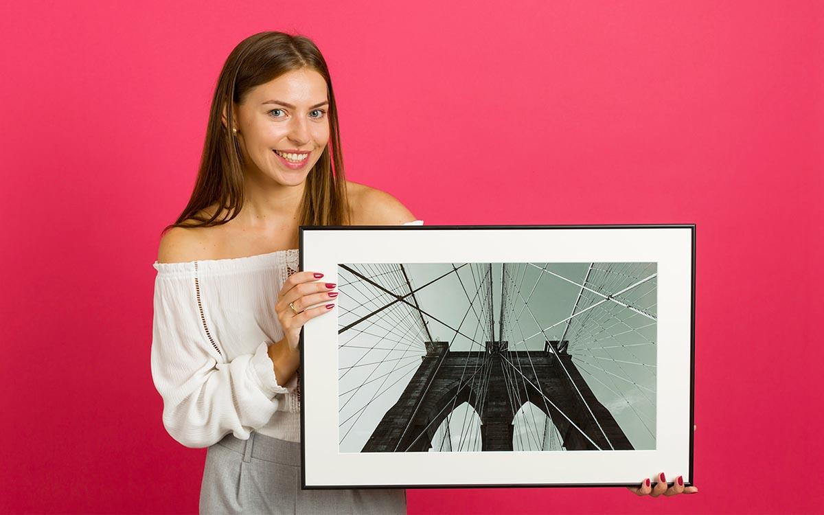 Fotoobraz w ramce ze zdjęcia z passe-partout