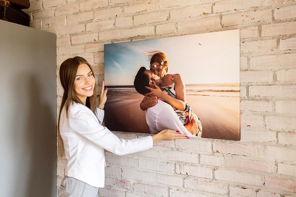 Fotoobraz na płótnie para