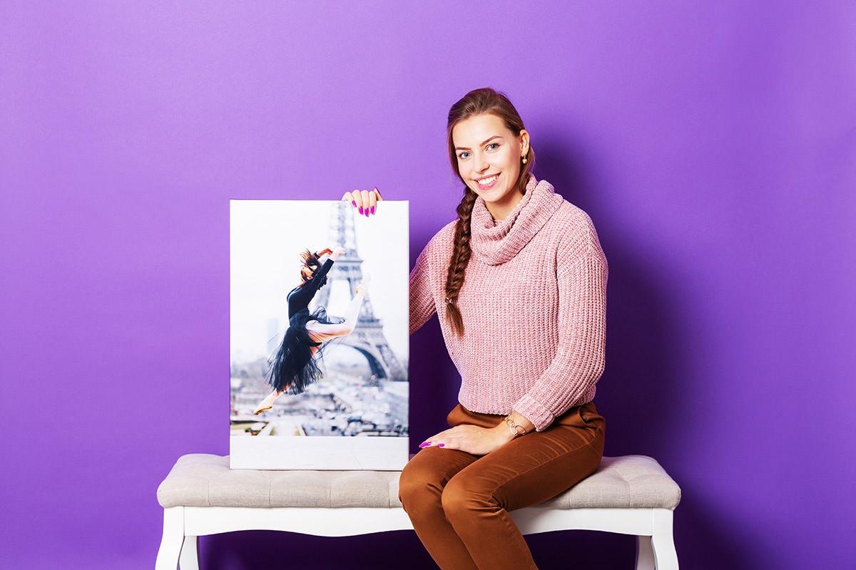 Fotoobraz na płótnie pojedynczy fioletowa ściana
