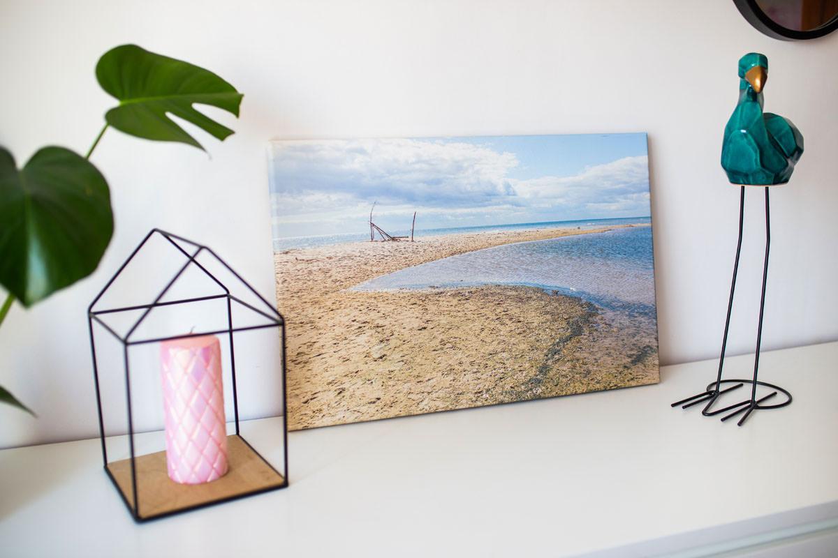 Fotoobraz na płótnie z wakacji na ścianie w salonie