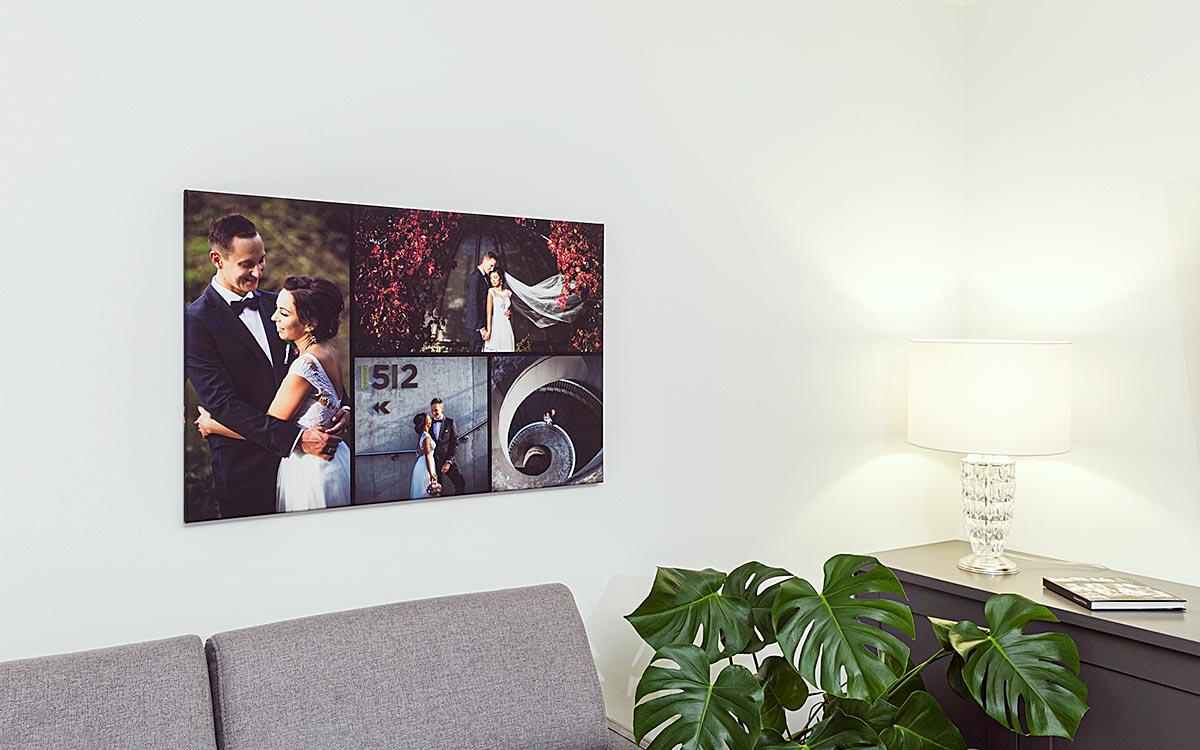 Fotokolaż na ścianie ślubny