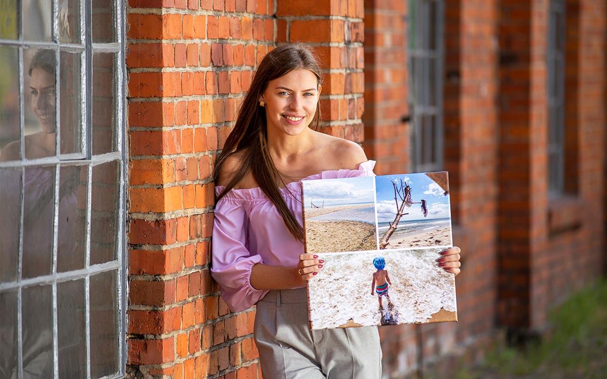 Fotoobraz kolaż zdjęć dzieci z wakacji
