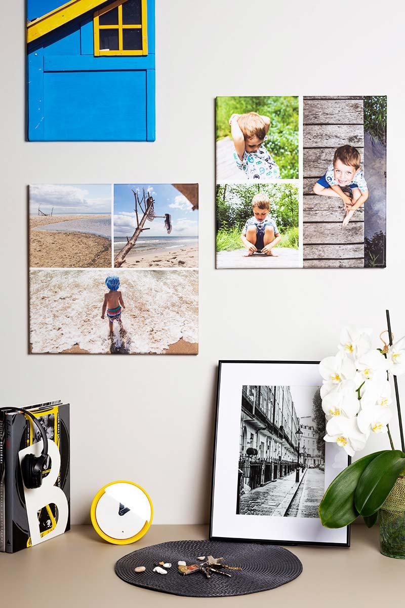 Fotoobraz kolaż zdjęć w kompozycji pokoju dziecka