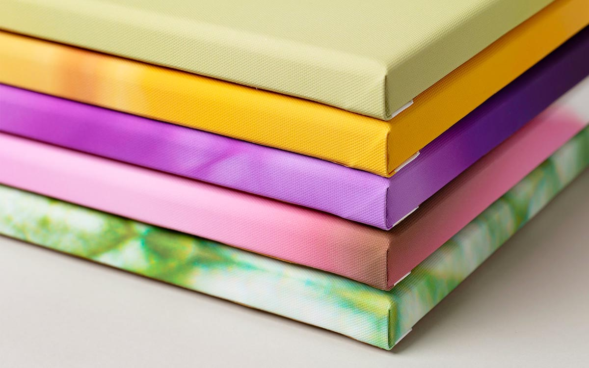 Kolekcja kolorowych fotoobrazów na płótnie wieloczęściowych