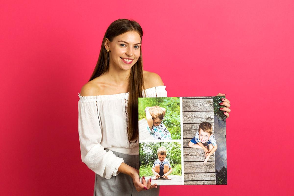 Fotokolaż z dzieckiem pamiątką dla babci