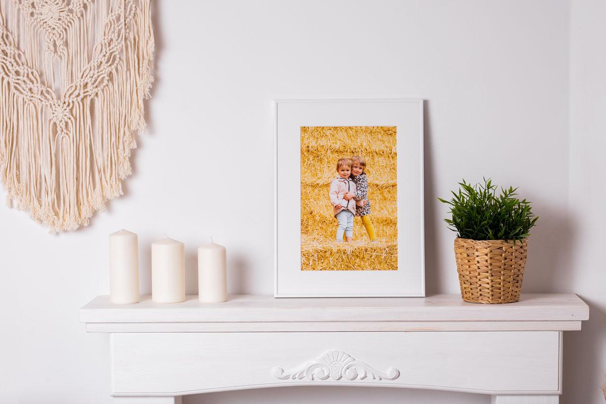 Fotoobraz w ramce portret dziecięcy