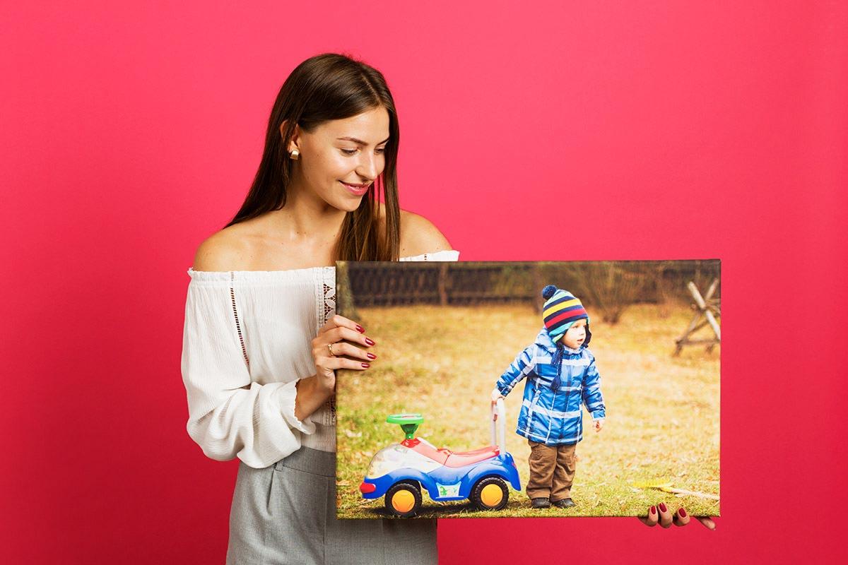 Portret dziecka na fotoobrazie